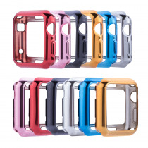Metallic Soft TPU Full Protect Shell Case Cover for Apple Watch Series 3 2 1 38/42mm Cases Protector Ultra-Thin Case for iWatch