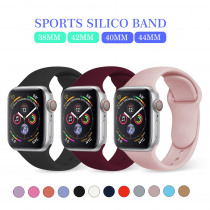 MU SEN Sport Silicone strap For Apple Watch Band 42mm 38mm 40mm 44mmBracelet Watch Bands  Iwatch Series 4/3/2/1 Wrist Watch Belt