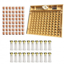 Beekeeping Tools Equipment Set Queen Rearing System Cultivating Box 110pcs Plastic Bee Cell Cups Cup kit Queen Cage