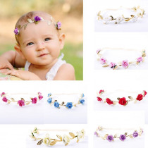 Baby Headband Girls Toddler Gold Leaves Hair Band Headwear Hairband Accessories Toddler Adorable Baby Girl Flower Gold Headband