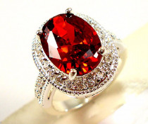 Rings for women Engagement ring set costume jewelry Ruby ring oversized zircon ringen men jewelry  nickles women A022