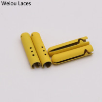 Weiou 4pcs DIY Shoelace Tips Mounted Metal Alloy Lace Ends Decorative Pants Rope Head Creative Drawstring Accessories 4.5*22mm
