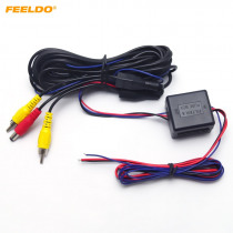 FEELDOCar Rear View Camera Video & Power Wires Cables Stabilized Relay Capacitor LMZ Filter for VW AUDI BMW Cadilac Cars#AM2982