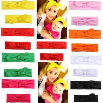 2Pcs/set Mother and Daughter Matching Headband Bow Knot Elastic Turban Hairband Headwear Baby Girls Hair Accessories