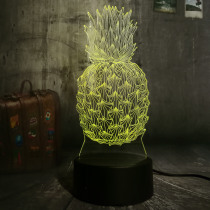 New Novelty 3D Pineapple Ananas LED Night Light 7 Color Change Home Room Decor Child Kids Baby Sleeping Desk Lamp Festival Gifts