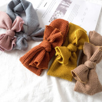 Cute Baby Girl Headbands Knitted Newborn Baby Bows Haarband Turban Head Warm head band Infant Toddler Hair band Bebes Acessorios