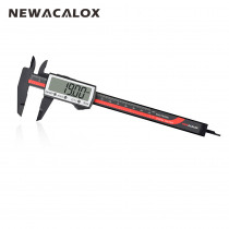 NEWACALOX Carbon Fiber Touch Digital Caliper Extra Large LCD Screen Inch/Metric Conversion 0-6 Inch/150 mm Measurement Tool