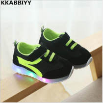 Kids Casual Lighted Shoes 2018 New Spring Girls Glowing Sneakers Children Shoes With Led Light Baby Girl Lovely Shoe EU 21~30