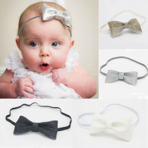 2019 Brand New Toddler Infant Newborn Baby Girl Headband Princess Cute Sequin Bow Knot Floral Headbands Black White