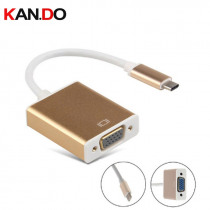 USB3.1 Type C to VGA Adapter Cable USB-C Male To VGA Female Video Transfer Converter 1080P for Macbook Chromebook Pixel