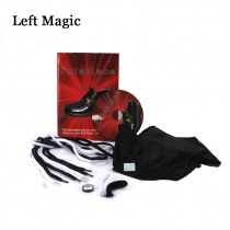 Interlace By Richard Sanders (DVD+Gimmick) Magic Tricks Ring Into Shoes Magic Props Close Up Magic Tool  Magician Accessories
