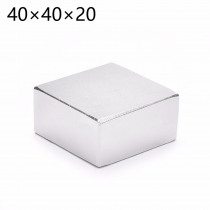 2pcs Free shipping 40*40*20 Strong Rare Earth Neodymium Magnets 40X40X20 MM Block Permanent Magnet 40mm*40mm*20mm (39*39*19)