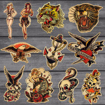 11pcs/Lot Sailor Jerry Sticker For Kids Toy Decal Suitcase Skateboard Wall Car Laptop Bicycle Motorcycle On Notebook Stickers