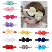 One Piece Lovely Newborn Baby Headband Cute Infant Girl Toddler Flower Hair Big Bow Band Accessories Stretch Solid Princess
