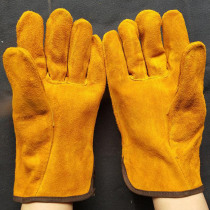 12Pairs/Lot Welding Gloves Cowhide Safety Cut-Resistant Glove 25cm Insulation Wear-resistant Protection Gloves Durable GST030