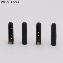 Weiou 4pcs/1Set New 3.8x22mm Shoelace Tip Aglet Ends Bullet Metal Lock Clips DIY Replacement Shoe Lace Silver Gold GunBlack Navy