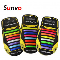 16pcs No Tie Shoelaces Silicone Elastic Lazy Easy Colorful Shoe Laces Off White for Sneakers Boots Sport Running Shoes Lace