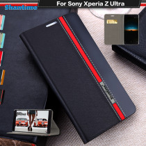 """Pu Leather Phone Case For Sony Xperia Z Ultra Flip Case For Sony Xperia Z Ultra 6.44"""" Business Case Soft Tpu Silicone Back Cover"""