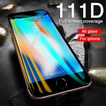 Curved edge Protective Glass On The For iPhone 7 8 6 6S Plus Tempered Glass Full Cover For X XR XS Max 5 5S SE Screen Protector