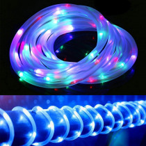 Solar Christmas String Lights Waterproof LED Fairy Lights Outdoor Wedding/Party Garden Decoration Rope Tube 12M LED Garland Lamp