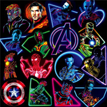 125Pcs  Don't repeat Neon Marvel Stickers Waterproof For Laptop Moto Skateboard Luggage Guitar Furnitur The Avengers Sticker