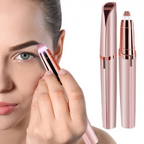 Mini Electric Eyebrow Trimmer Epilator Lipstick Brows Pen Hair Remover Painless Eye Brow Razor Shaver With LED Light And Box