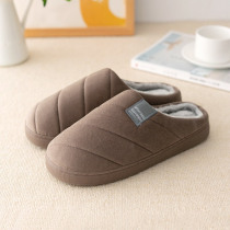 Women's Slippers Winter Plus Size 43-47 Striped TPR Solid Cozy Fur Slippers Woman Short Plush Indoor Slippers