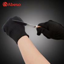 Abeso 10 Pair Safety Gloves Proof Protect Stainless Steel Wire Safety Gloves Work Cut Metal Mesh Anti-cutting for Work Gloves