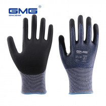 3 Pairs Anti Cut Gloves Level 5 GMG Blue Thin Soft HPPE Shell CE Certificated Gloves For Work Safety Mechanic Gloves Anti-cut