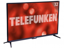 "Телевизор Telefunken TF-LED32S86T2S LED 32"" Black, Smart TV, 16:9, 1366х768, 3 000:1, 240 кд/м2, USB, HDMI, VGA, Wi-Fi, RJ-45, DVB-T, T2, C"