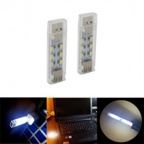 Mini USB 12 LED Double Sided Night Light Reading Lamp for Computer Laptop PC Notebook Power Bank