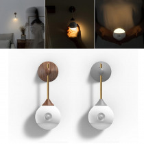 Smart Sensor Night Light Wall Lamp Infrared Induction USB Removable Lamp