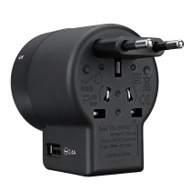 All-in-1 Universal Multi-function Dual USB Socket Travel USB Charger Power Adapter US EU/AU/UK/Plug