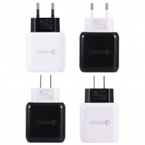 US EU Q6 Quick Charger 3.0 USB Charger Power Adapter For Smartphone Tablet PC