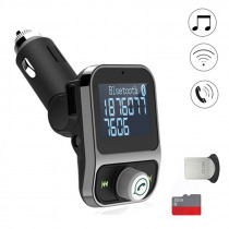 4 in 1 Car Kit Hands Free bluetooth MP2 FM Transimittervs 5V 3.1A with 1.44 inch Display