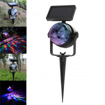 RGB Crystal Ball LED Stage Light Solar Powered  Light /Switch Control Landscape Light