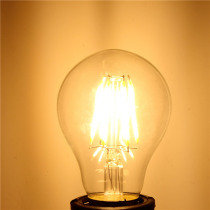A60 E27 6W White/Warm White Non-Dimmable COB LED Filament Retro Edison Bulbs 220V