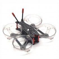 FlyFox No.12 2 Inch 100mm FPV Racing Frame Kit 3K Carbon Fiber with Propeller Protection Ring 40g