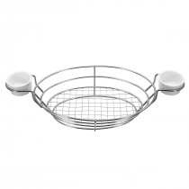 Stainless Steel Toast Display Stand Up Basket Holder With 2 Ceramic Sauce Cups Baking Cooling Rakc