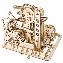 3D Self-Assembly Handcrank Wooden Marble Run Tower Magic Crush Puzzle Building Kits Mechanical Model Gift