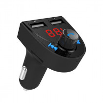 Car bluetooth FM Transmitter Radio Adapter MP3 Player Car Kit With Hands-Free 2 Ports USB Charger