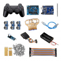 Handle Control Automatic 3 Channel Ultrasonic Obstacle Avoidance Kit Smart Robot Tank Car Chassis UNO R3 Motor Driver Board Kit