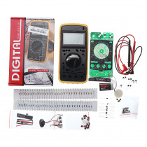 DIY DT9205A Portable Digital Multimeter Learning Kit Students DIY Electronic Production Training Kit AC / DC Voltage Current