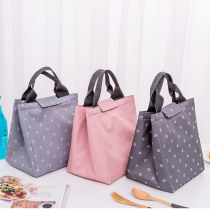 New Portable Lunch Bag Small Leaf Insulation Package Family Picnic Cold Ice Cooler Canvas Hand Bag Baby Food Keeper Bag