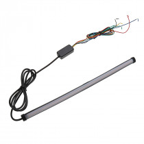 Universal Motorcycle Sequential Switchback Flowing LED Tail Brake Turn Signal Strip lights