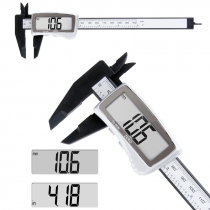 Digital Caliper 150mm Electronic Digital Vernier Caliper Carbon Fiber Large LCD Screen Display Micrometer Metric/Inch Caliper Measuring Tool