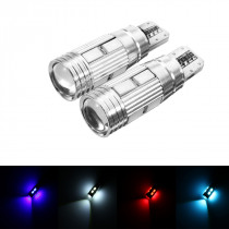 2Pcs T10 W5W LED Wedge Car Side Marker Lights Bulb Lamp with Lens 5W 450LM DC12V
