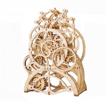 3D Self-Assembly Wooden Pendulum Clock Mechanical Gears Building Kits Puzzle Building Model Gift