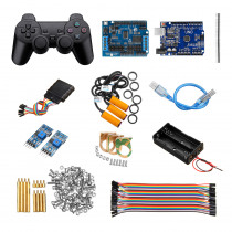 Handle Control Automatic Tracking Infrared Obstacle Avoidance Kit Smart Robot Tank Car Chassis UNO R3 Motor Driver Board Control Kit