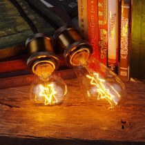 E27 40W Vintage Industrial Edison Warm White Light Double Single Star Incandescent Bulb AC220V
